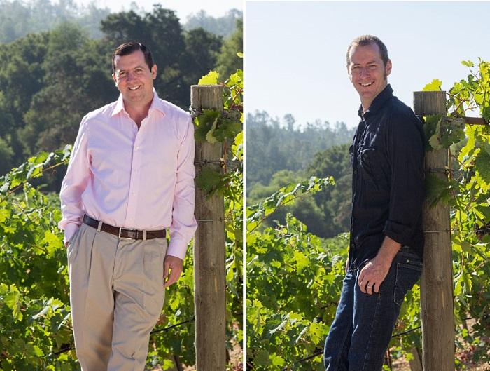 Till vänster: ägaren Clay Fritz  och till höger: vinmakaren Brad Longton