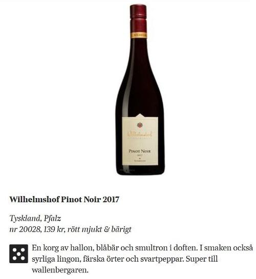 kritik av viner på Svd och flaska