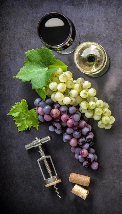 Chianti - druvor vita och röda
