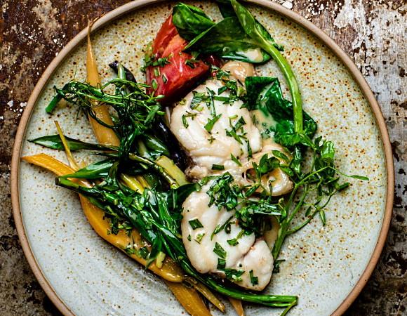 torskrygg med grönsaker